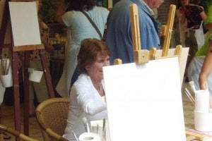 Workshop schilderen bij Landgoed de Biestheuvel