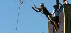 Trapeze sprong op Landgoed de Biestheuvel