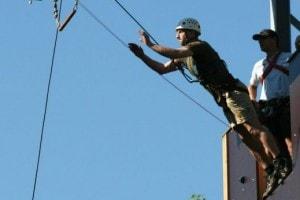 De trapeze sprong bij Landgoed de Biestheuvel