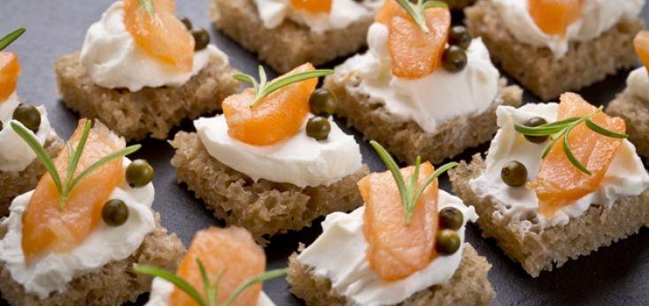 Culinaire luxe hapjes tijdens bedrijfsuitje op Landgoed de Biestheuvel
