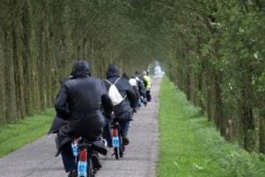 Solex rijden bij Landgoed de Biestheuvel