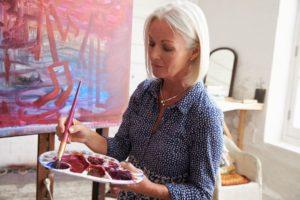 Workshop schilderen op Landgoed de Biestheuvel