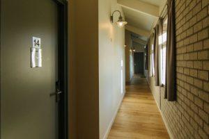 Gang slaapkamers de Schop bij Landgoed de Biestheuvel
