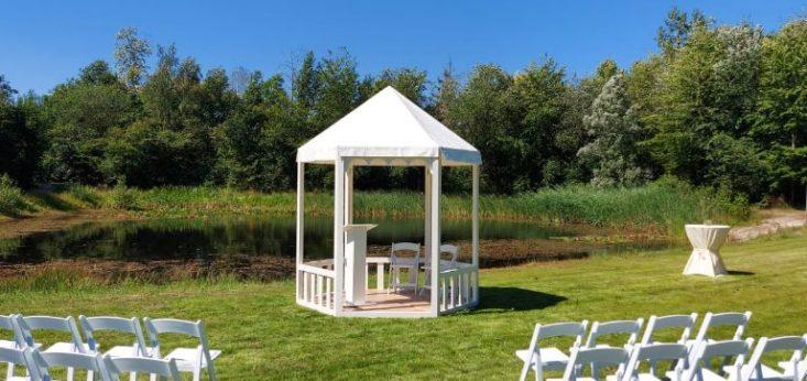 Huwelijk ceremonie Landgoed de Biestheuvel
